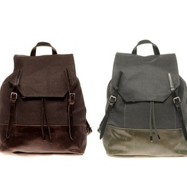 ally capellino - dean waxed canvas backpack ALLY CAPELLINO DEAN WAXED CANVAS BACKPACK   ASOS 10% PROMOTIONAL CODE