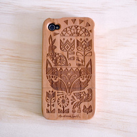 A Skulk of Foxes - Andrea Smith Hardwood iPhone 4 & 4S Cover