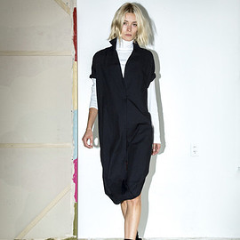 Assembly New York - Black Cotton Twist Dress