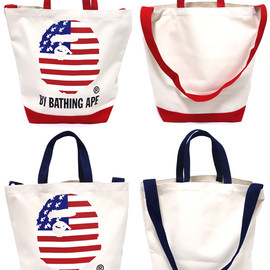 A BATHING APE - BY BATHING APE CANVAS SHOULDER TOTE