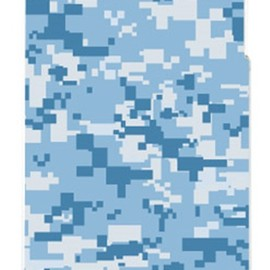 SECOND SKIN - DIGITAL camouflage ブルー (クリア) design by Moisture / for iPhone 4S/SoftBank