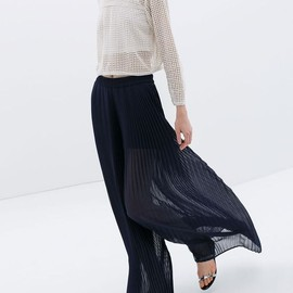 ZARA - Pleated Bell Bottom Trousers