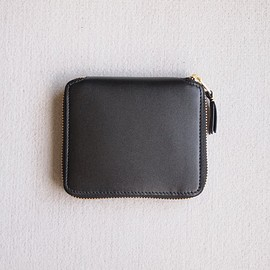 Wallet COMME des GARCONS - 二つ折りZIP財布 SA2100 #black/classic leather