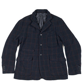 ENGINEERED GARMENTS - LDT Jacket-HB/Windowpane-Navy