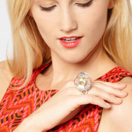 Disney Couture - Disney Couture Tinkerbell Snow Globe Ring