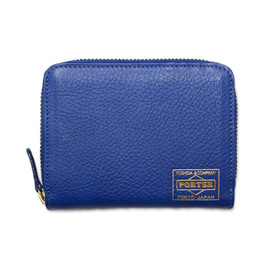 "HEAD PORTER - ""CALVI"" WALLET (M) BLUE"