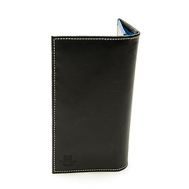Whitehouse Cox - S9697 Long Wallet Holiday Line-Black×Royal