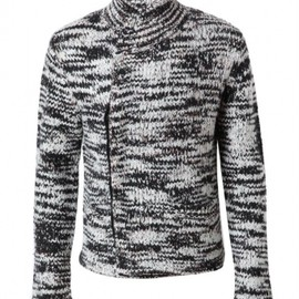 DRIES VAN NOTEN - Abstract tweed chunky wool cardigan