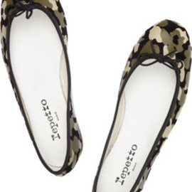 Repetto - Camouflage-print leather ballet flats