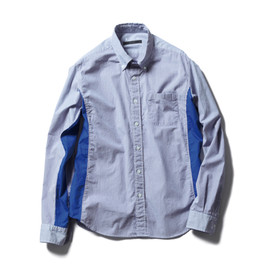 SOPHNET. - STRIPE SIDE PANEL B.D SHIRT