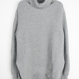 CELINE - cashmere ribbed turtleneck jumper