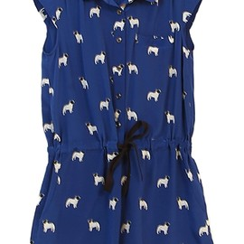 Sea N.Y. - Bulldog Playsuit Blue
