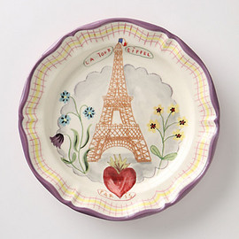 Anthropologie - Francophile Dinner Plate, Eiffel Tower