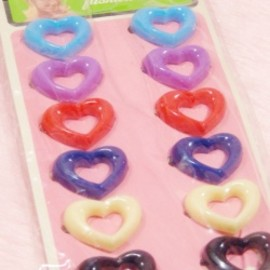 "1960-70's ""COLORFUL HEART"" Hair Barrettes 12点セット【DEAD-STOCK♡】"