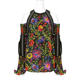 3.1 Phillip Lim - Botanical Cold Shoulder top