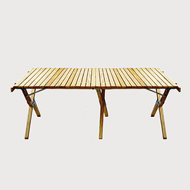 output life - WOOD ROLL TOP TABLE L