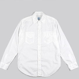 POST O'ALLS - NEW LIGHT SHIRT-Dia Dobby-White