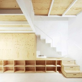 Architectura-G - Plywood In-house furniture, Barcelona, Spain