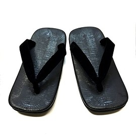 Aoi Industries,Inc - 黒 草履 雪駄 Black Japanese Sandals