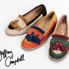 JEFFREY CAMPBELL - Jeffrey Campbell Suede Tussel Loafer