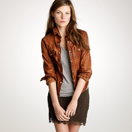 JEAN SHOP - THE JEAN SHOP LEATHER WESTERN SHIRT