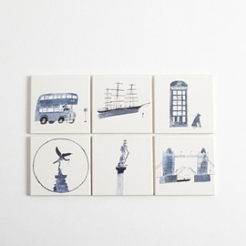 Laura carlin - London Life Tiles : Iconic London
