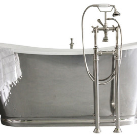 "'The Lindisfarne' 68"" Long Cast Iron Bathtub"