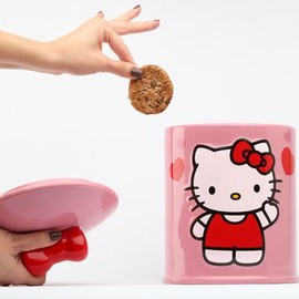 SANRIO - Hello Kitty Cylinder Ceramic Cookie Jar