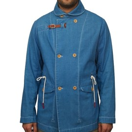 folk - overcoat indigo FOLK OVERCOAT INDIGO | FOLK 45% SALE