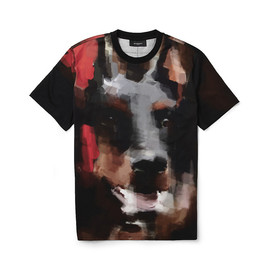 GIVENCHY - Image of Givenchy Doberman-Print Cotton-Jersey T-Shirt