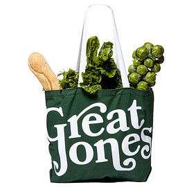 Great Jones - Great Jones green canvas market tote