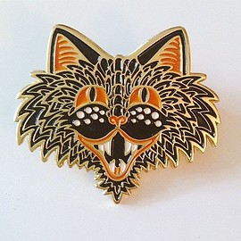 old spirits old haunts - Spooky the Cat pin