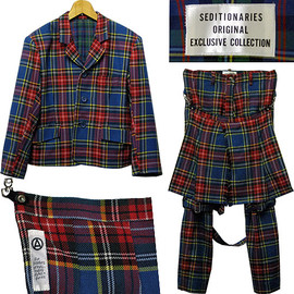SEDITIONARIES - SEDITIONARIES (A STORE ROBOT) Jacket + Bondage trousers タータンチェックボンテージスーツ