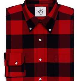 BLACK FLEECE BY Brooks Brothers - Buffalo Check Oxford Button-Down Shirt (RED-NAVY)