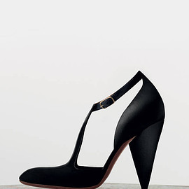 Céline - Céline Tango Ankle Strap Pump in Black Calfskin 105 mm