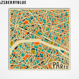 Jazzberry Blue - PARIS Map