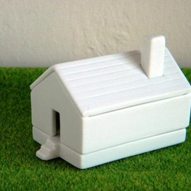 224porcelain - House for chopsticks White