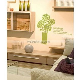 wallstickerdeal.com - Being Happy Fragrance Of Flower Wall Sticker