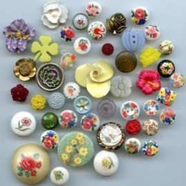 Vintage and a few modern plant life buttons