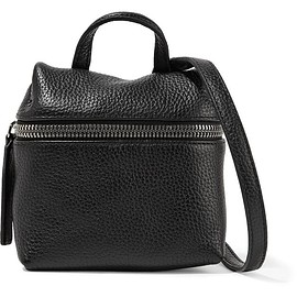 Kara - Micro textured-leather shoulder bag