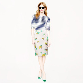 J.CREW - Collection No. 2 pencil skirt in tossed carnations