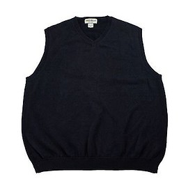 Eddie Bauer - Eddie Bauer Navy Blue Cotton Sweater Vest Made in Australia Menswear Mens Large