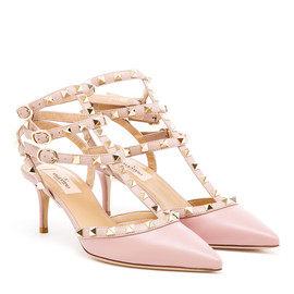 VALENTINO - Rock Studded Leather Kitten Heels