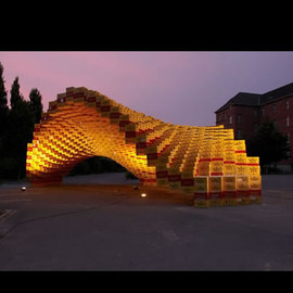 ドイツ - Brilliant Boxel Pavilion is Built From 2,000 Beer Boxes