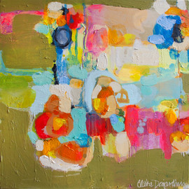Claire Desjardins - Be There At Six, Acrylics on canvas.