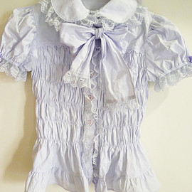 Angelic Pretty - Angelic Pretty short-sleeved blouse bowtie lavender