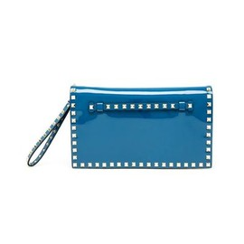 VALENTINO - Rock stud patent leather clutch bag