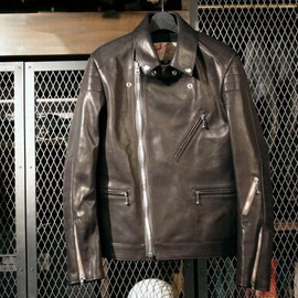 ADDICT CLOTHES NEW VINTAGE - HORSEHIDE PADDED BRITISH ASYMMETRY JACKET