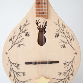 celentanowoodworks - Stag/deer Head Flat Top/Back Ukulele