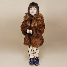 mini rodini - FAUX FUR JACKET